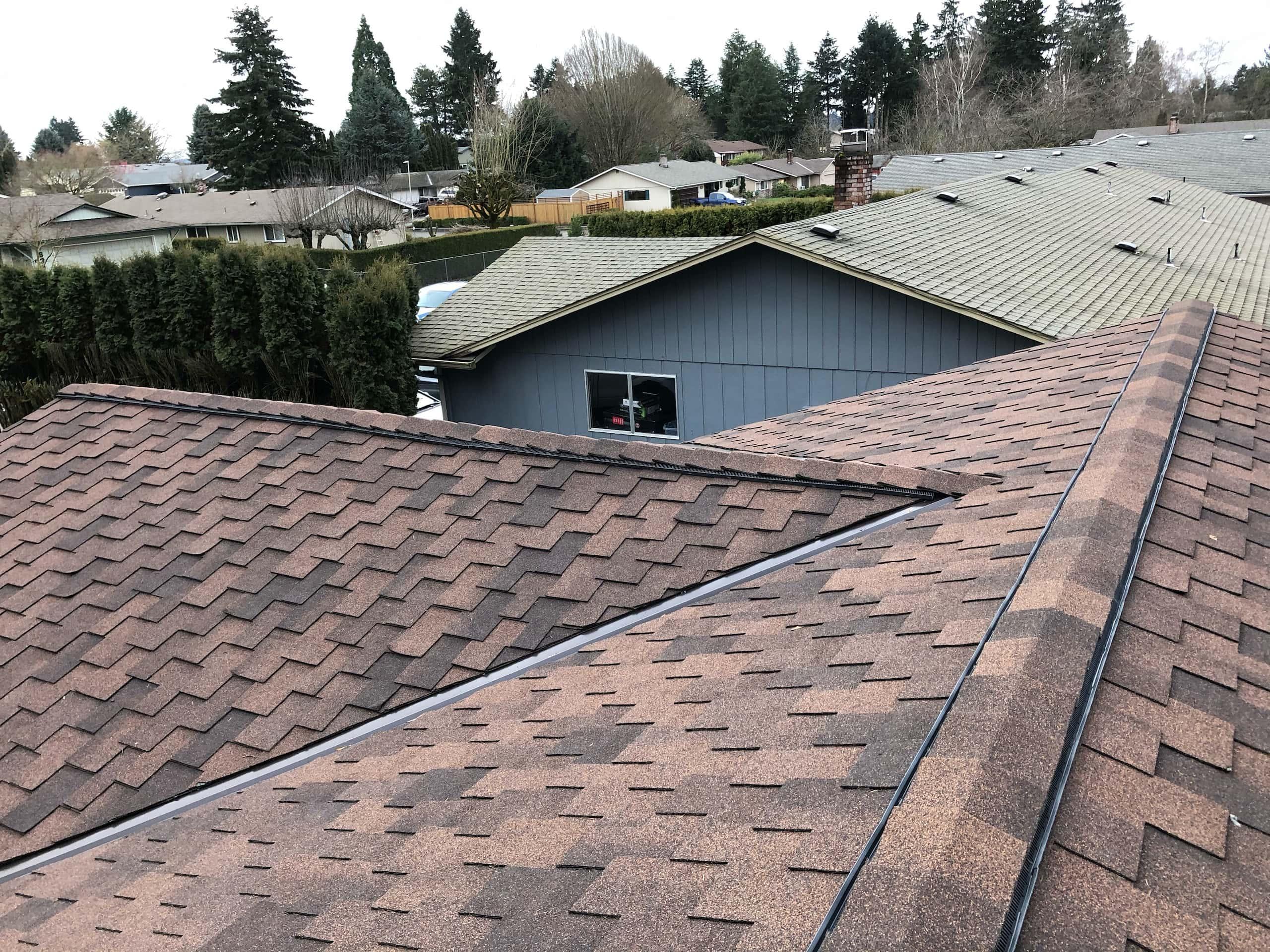 Reliance Roof Pros LLC   Beaverton   New Roof   Malarkey Windsor SG   Antique Brown   Valley Ridge