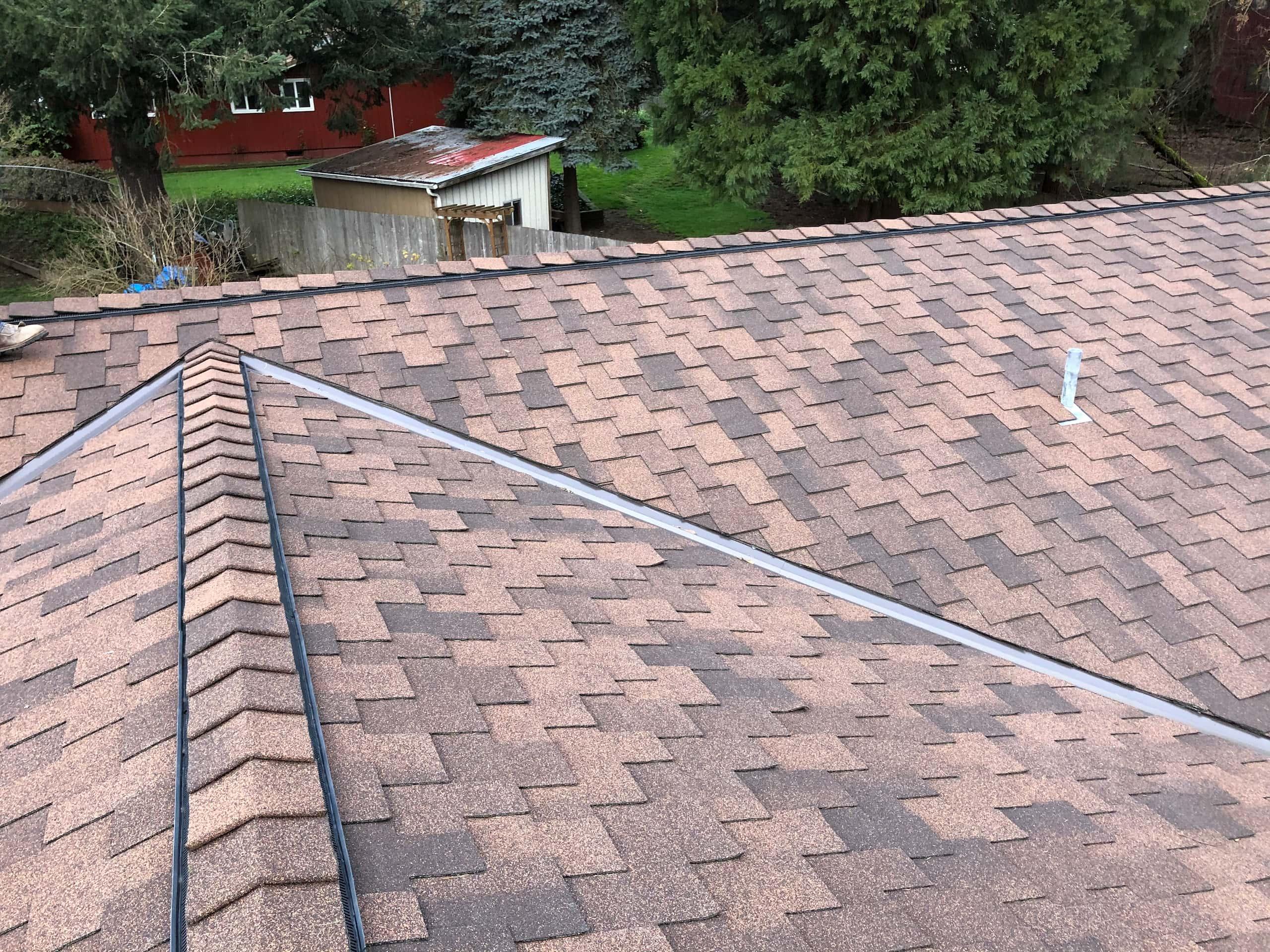 Reliance Roof Pros LLC   Beaverton   New Roof   Malarkey Windsor SG   Antique Brown   Valley