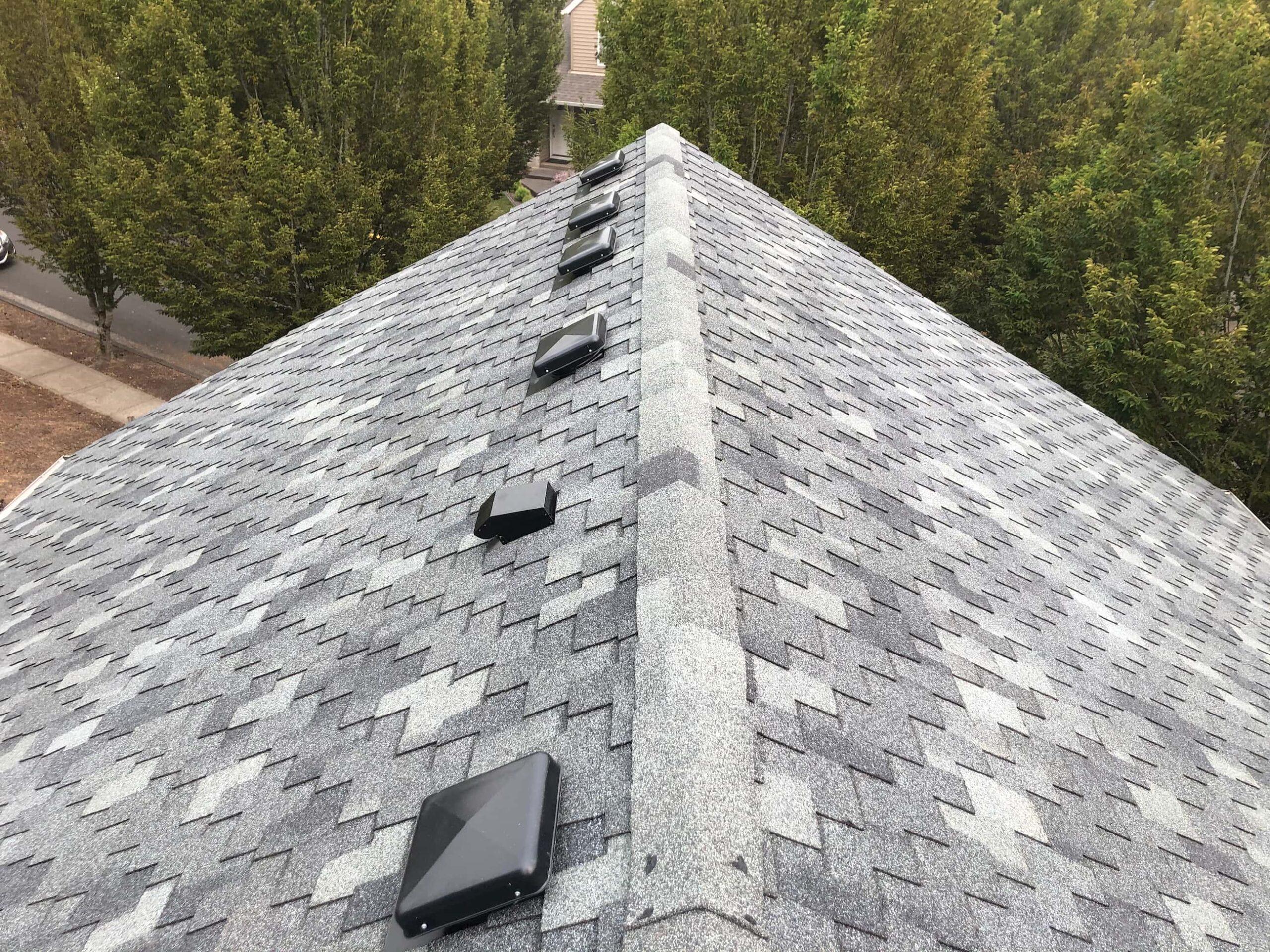 Reliance Roof Pros LLC | Beaverton | New Roof | Pabco Paramount AD | Pewter Gray | Ridge Line