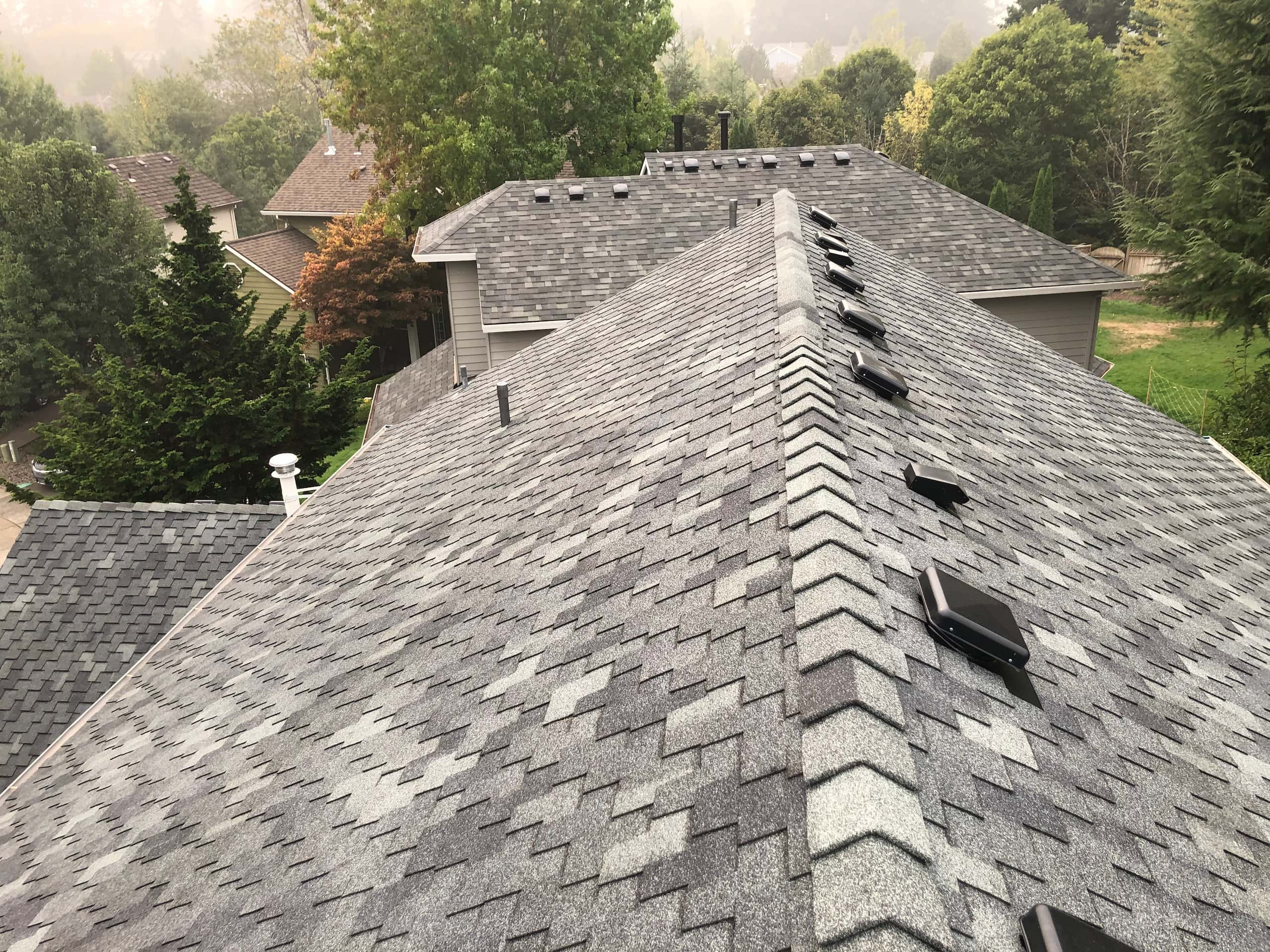 Reliance Roof Pros LLC | Beaverton | New Roof | Pabco Paramount AD | Pewter Gray | Top View