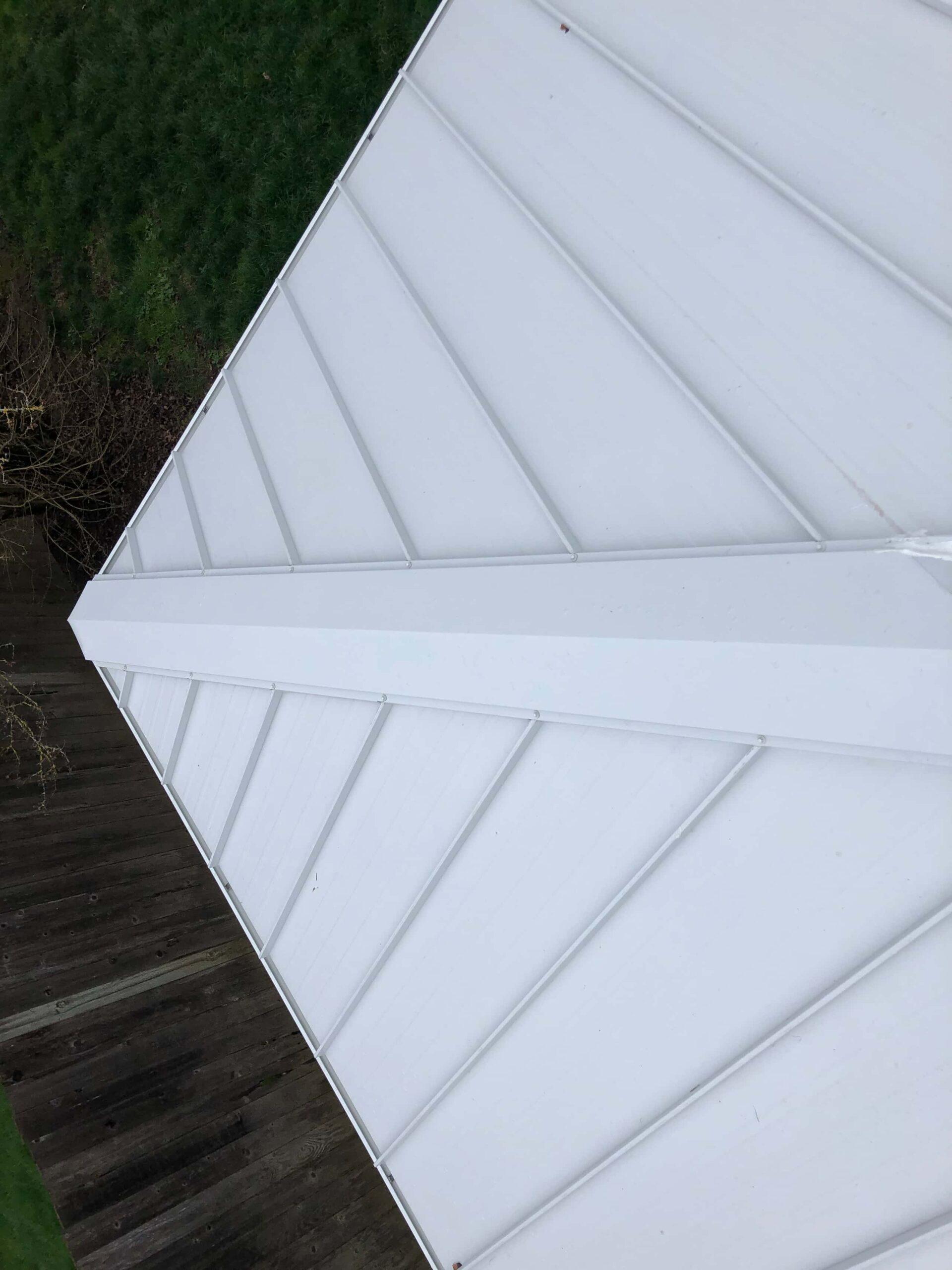 Reliance Roof Pros LLC | Beaverton | New Roof | Taylor Metal 24 Gauge Kynar | Glacier White | Valley