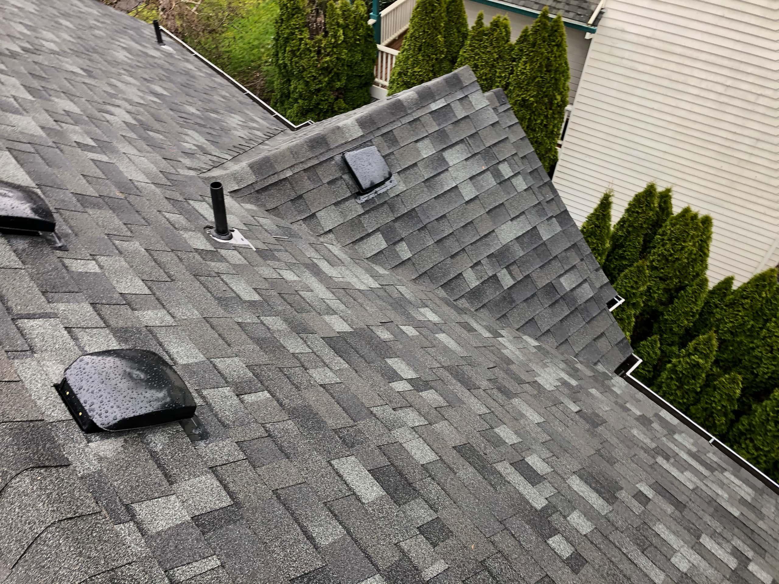 Reliance Roof Pros | Lake Oswego | New Roof | Malarkey Vista AR Storm Gray | Multiple Level