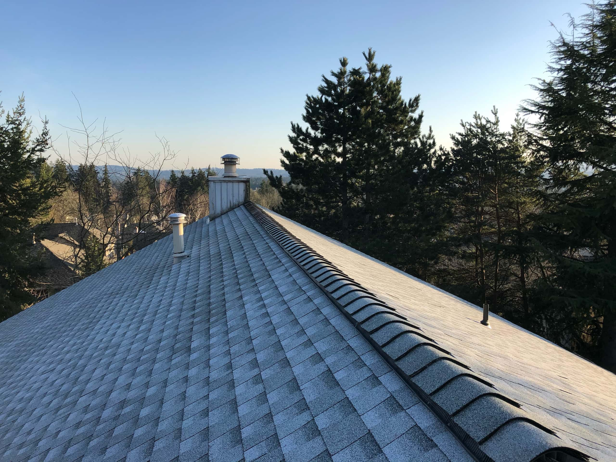 Reliance Roof Pros LLC | West Linn | New Roof | GAF Timberline HDZ | Birchwood | Ridge